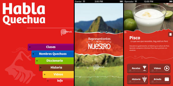 Apps móviles de Promperu