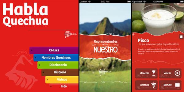 Apps móviles de Promperu