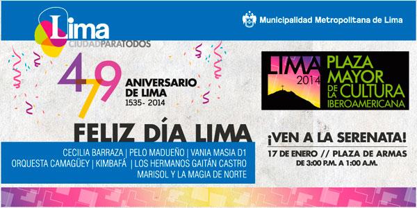Actividades por el 479 Aniversario de Lima
