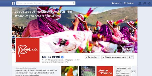 Turismo Perú en Facebook
