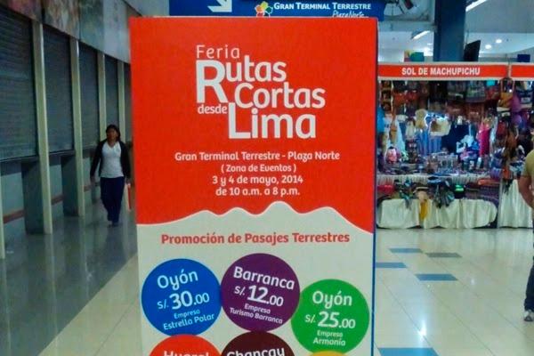 Feria rutas cortas desde Lima