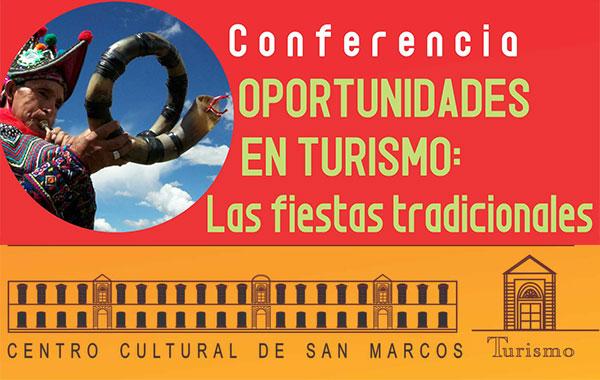 Conferencia Turismo San Marcos