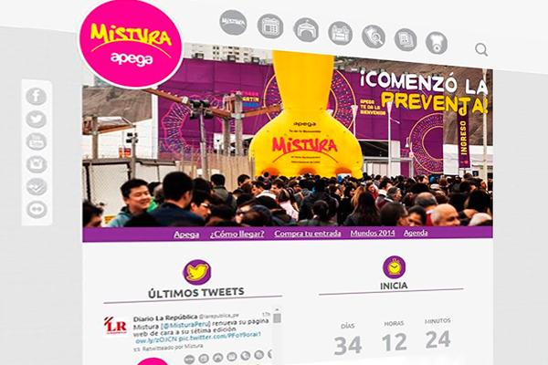 Apega renueva la página web de Mistura rumbo a la sétima edición de la feria