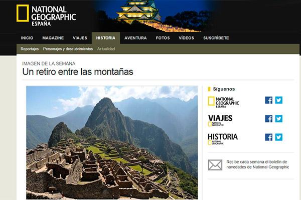 Machu Picchu: imagen de la semana en National Geographic
