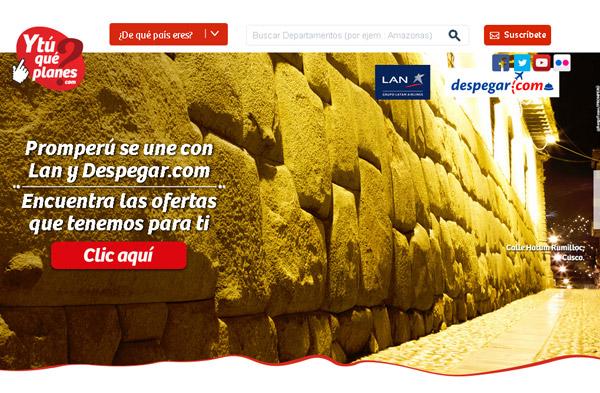 Promperú, Despegar.com y Lan Perú promoverán ofertas turísticas hasta marzo del 2016