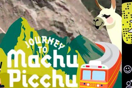 Snapchat promociona Journey to Machu Picchu