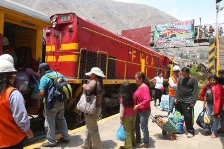 Salidas 2017 del Ferrocarril Central Andino de Lima a Huancayo