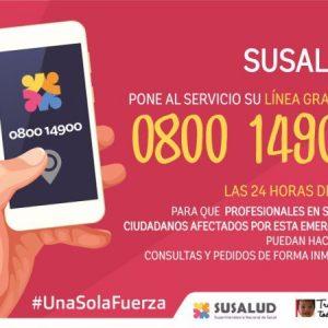Habilitan línea gratuita (0800-14900) para pedir ayuda ante emergencias climáticas