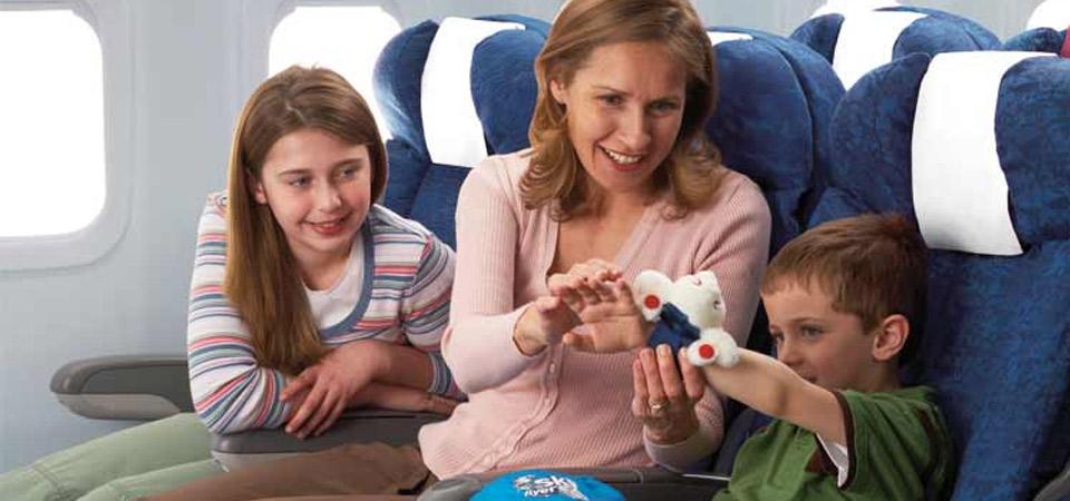 Tips para volar con niños