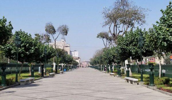 Alameda de los Descalzos, paseo peatonal en el Rímac