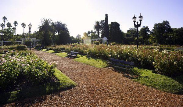 Parque tres de febrero, los bosques de Palermo en Buenos Aires.