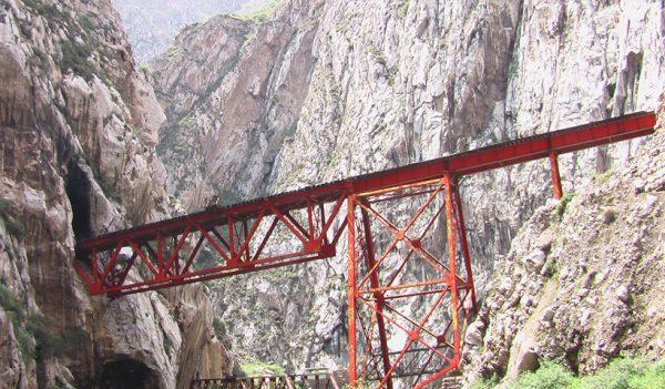 Puente Infiernillo durante el viaje en tren a Huancayo.