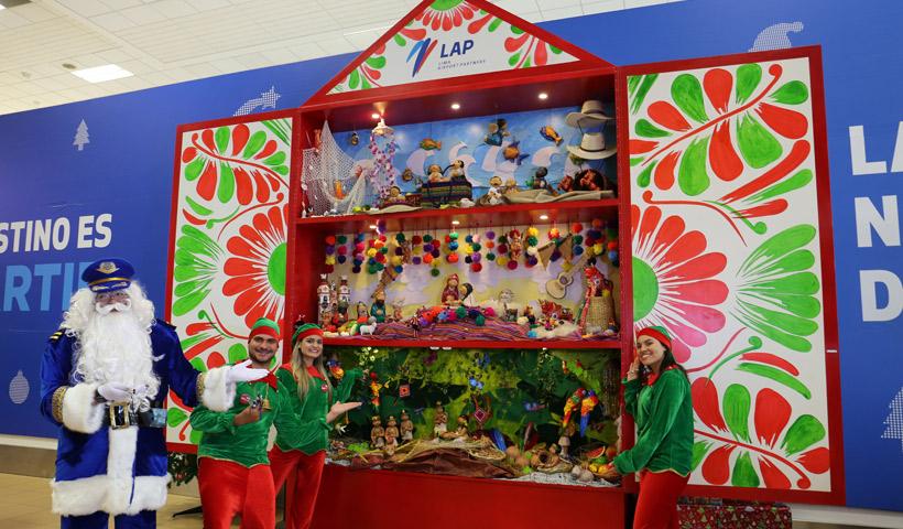 LAP celebra la navidad con Retablo Peruano en el Aeropuerto Jorge Chávez