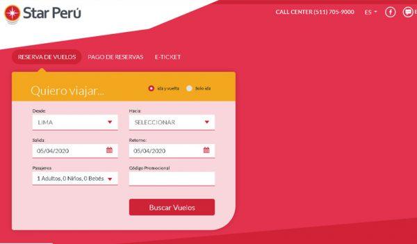 Check-in Star Perú - Imprime tu ticket electrónico aquí