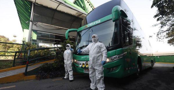 Transporte interprovincial: Protocolo sanitario del MTC