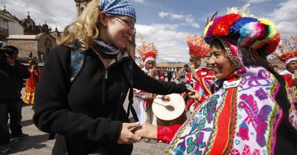 Turistas Europeos en el Cusco