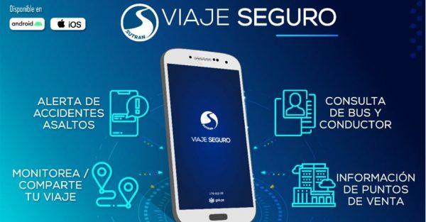 """SUTRAN presenta aplicativo """"Viaje Seguro"""" para que pasajeros alerten accidentes y asaltos en viajes terrestres interprovinciales"""