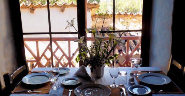 Comedor en la Hacienda Santa María de Tarma
